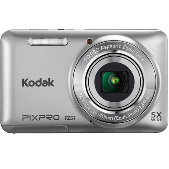 KODAK กล้องดิจิตอล Pixpro FZ52 Silver Free SD 8GB + Bag มูลค่า 490 บาท