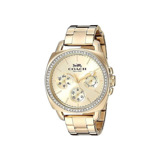COACH 14503141 Women's Watch Gold-tone Bracelet Glitz BOYFRIEND 34MM