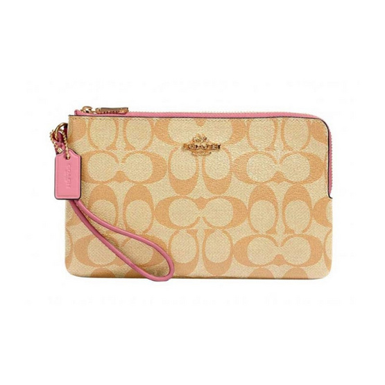 COACH 16109 DOUBLE ZIP WALLET IN SIGNATURE CANVAS (IMR6D)
