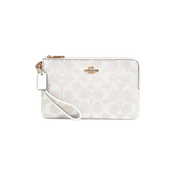 COACH 16109 DOUBLE ZIP WALLET IN SIGNATURE CANVAS (IMRFF)