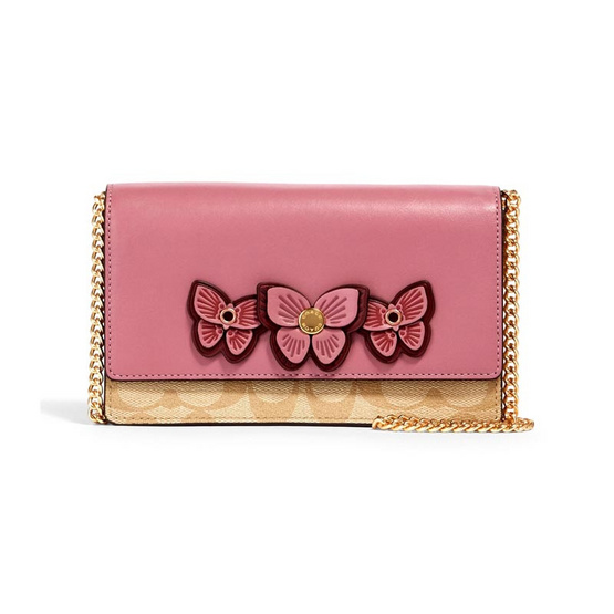 COACH 2935 FLAP BELT BAG IN SIGNATURE CANVAS WITH BUTTERFLY APPLIQUE (IMR2L)