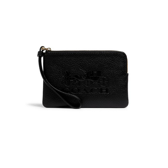 COACH 3580 JES CORNER ZIP WRISTLET WITH HORSE AND CARRIAGE (IMBLK)