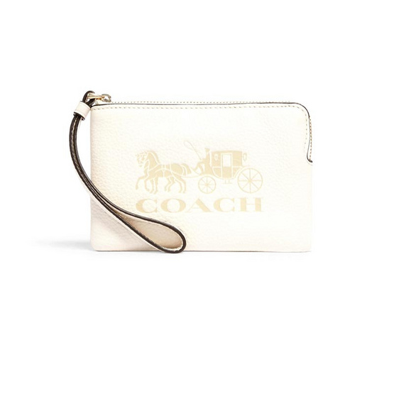 COACH 3580 JES CORNER ZIP WRISTLET WITH HORSE AND CARRIAGE (IMCHK)