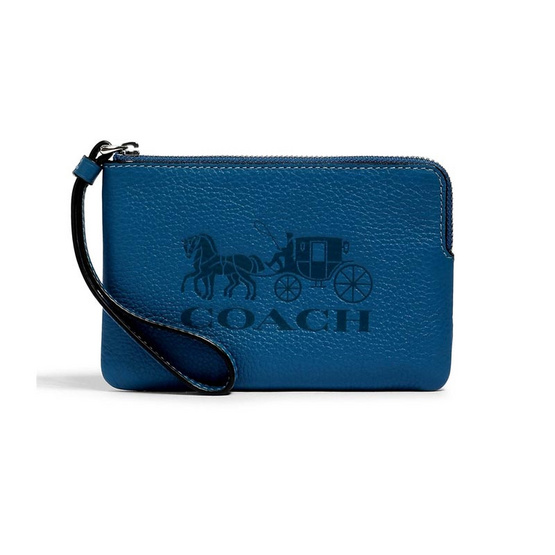 COACH 3580 JES CORNER ZIP WRISTLET WITH HORSE AND CARRIAGE (SVN2W)