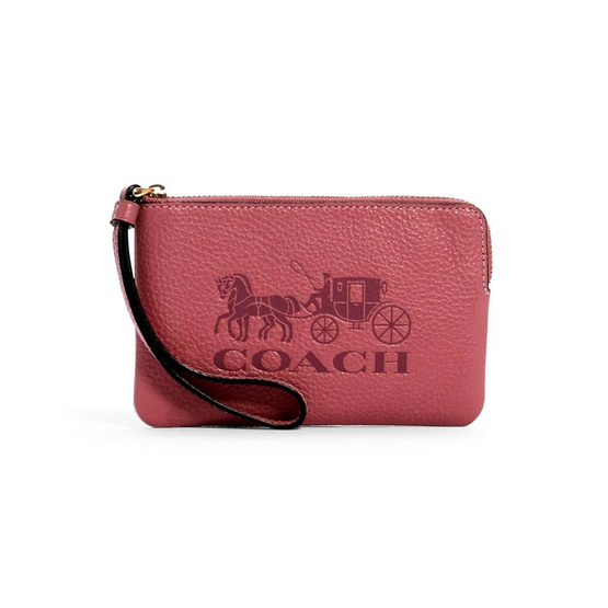 COACH 4413 CORNER ZIP WRISTLET IN COLORBLOCK WITH HORSE AND CARRIAGE (IMROL)