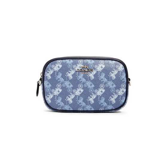 COACH 78603 CONVERTIBLE BELT BAG WITH HORSE AND CARRIAGE PRINT (SVQB8)