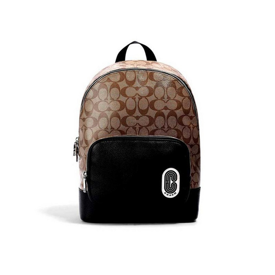 COACH 1700 COURT BACKPACK IN SIGNATURE CANVAS WITH COACH PATCH (SKHBK)