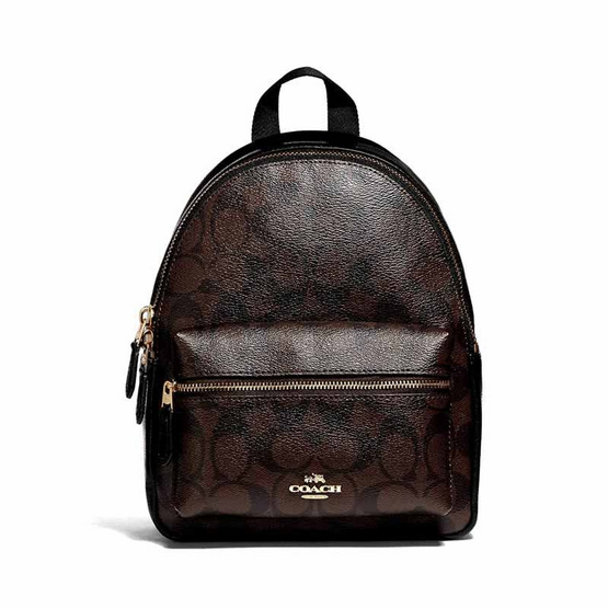 COACH 38302 MINI CHARLIE BACKPACK IN SIGNATURE CANVAS (IMAA8)
