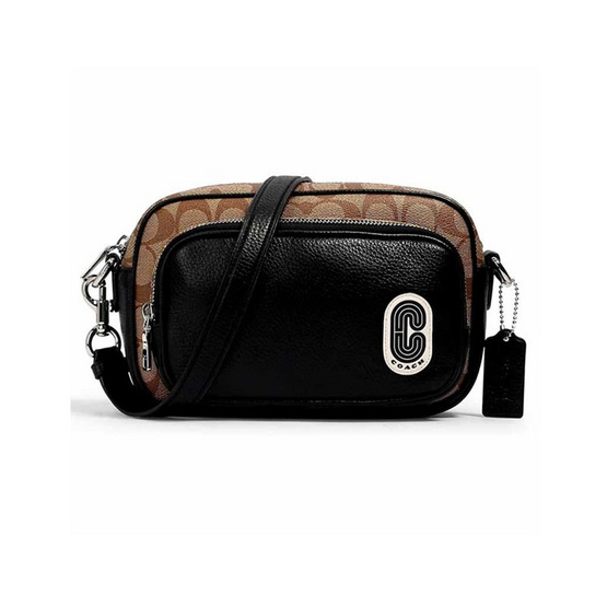 COACH 1695 COURT CROSSBODY IN SIGNATURE CANVAS WITH (SKHBK)