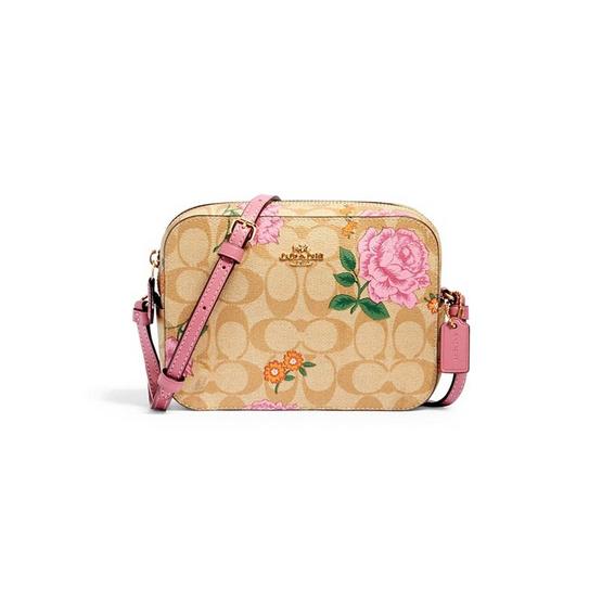 COACH 2465 MINI CAMERA BAG IN SIGNATURE CANVAS WITH PRAIRIE ROSE PRINT (IME7V)
