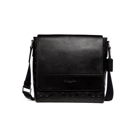 COACH F73340 HOUSTON MAP BAG IN SIGNATURE LEATHER (QBBK)