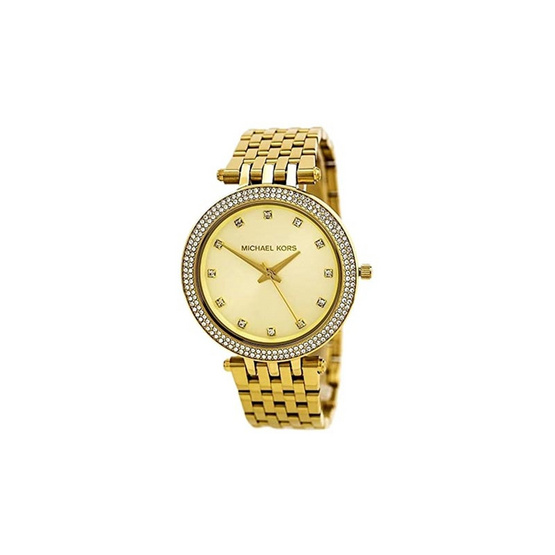 Michael MK3216 Darci Gold-Tone Glitz Dial Watch