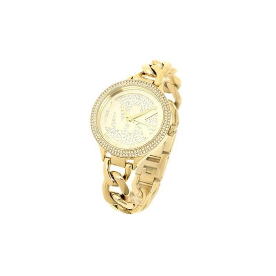 Michael MK3474 Outlets Gold-tone Twist Chain Bracelet Women's Watch