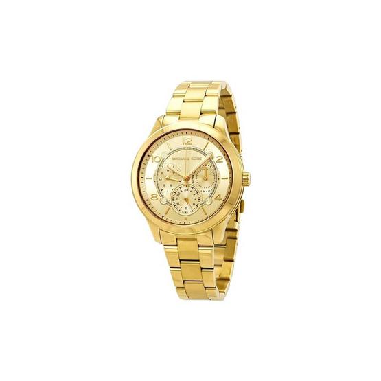 Michael MK6588 Runway Gold Dial Ladies Watch