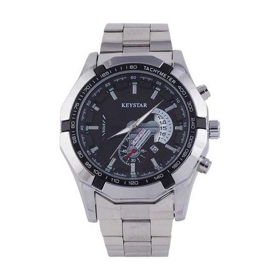 KEY STAR นาฬิกาข้อมือ รุ่น K001-SI/BK