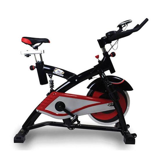 360 Fitness จักรยานปั่นออกกำลังกาย Spin Bike 18KG. รุ่น AM-S2000T สีดำ/แดง