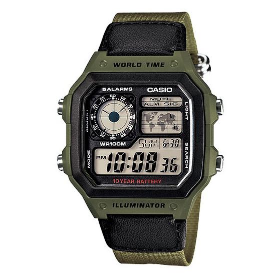 CASIO นาฬิกาข้อมือ รุ่น AE-1200WHB-3B