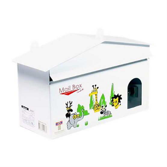 HANABISHI ตู้รับจดหมาย LT-021 สีขาว คละลาย