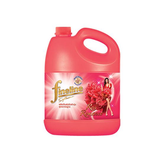 ไฟน์ไลน์ น้ำยาปรับผ้านุ่ม กลิ่นเรด โรแมนซ์ สีแดง 3,500 มล.