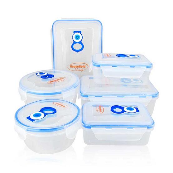 ชุดกล่องถนอมอาหารสูญญากาศ เซ็ต 6 กล่อง (พร้อมฝา)