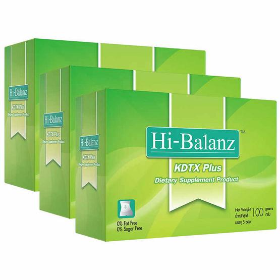Hi-Balanz KDTX Plus 5 ซอง /กล่อง แพ็ค 3