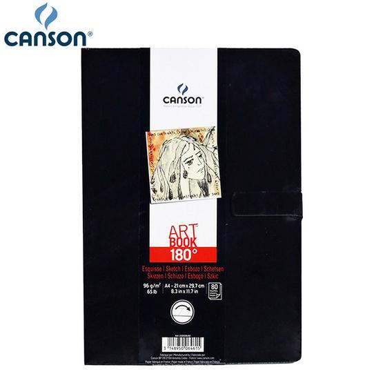 Canson สมุดสเก็ตซ์ 180องศา A4 หนา 96 g #200006461