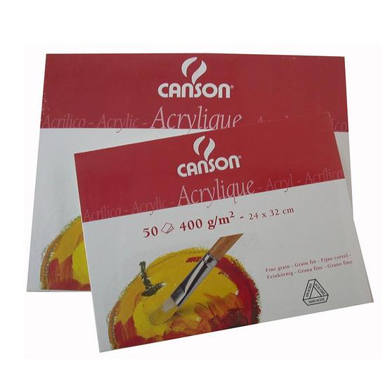 Canson สมุดวาดสีอคริลิค 400G 24X32 ซม. (50 แผ่น) 0807-412