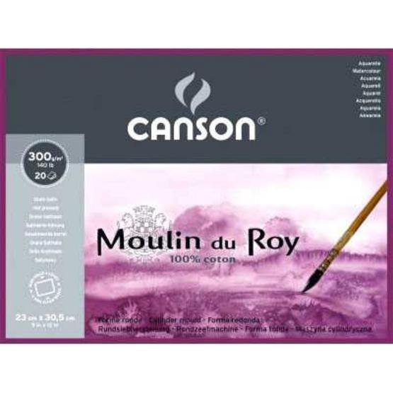 Canson บล็อคมูแลงดูรอย 23x30.5 ซม. 300 กรัม  20แผ่น ผิวเรียบ 400014796