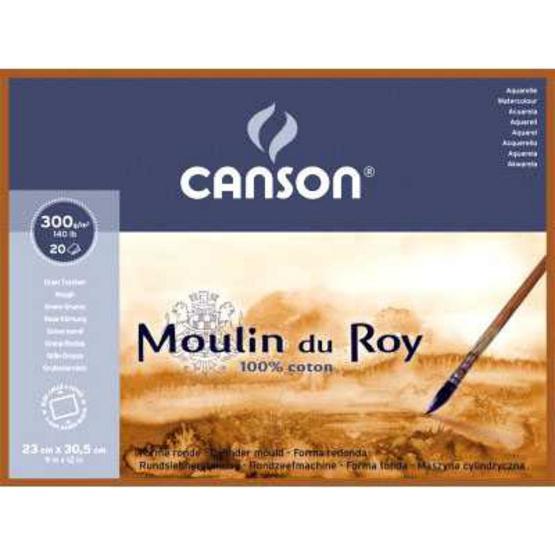 Canson บล็อคมูแลงดูรอย 30.5x45.5 ซม. 300 กรัม 20แผ่น ผิวหยาบ 400 014 801