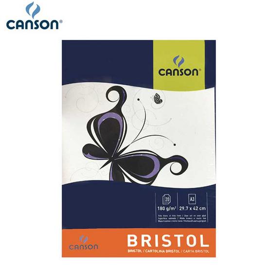 Canson สมุดฉีกบริสตอล 180g ผิวซาตินเรียบ 29.7x42cm. #200 001 920