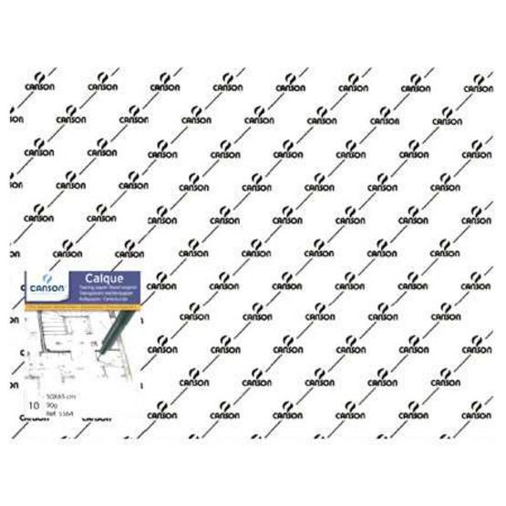Canson แพ็คกระดาษไขเขียนแบบ 90/95G 005-564 50x65 (1x10)