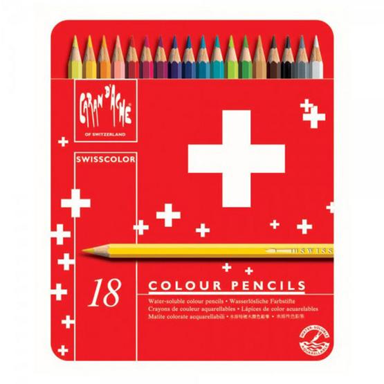 Caran D'ache ดินสอสีระบายน้ำ รุ่น Swisscolor18 สี 1285.718