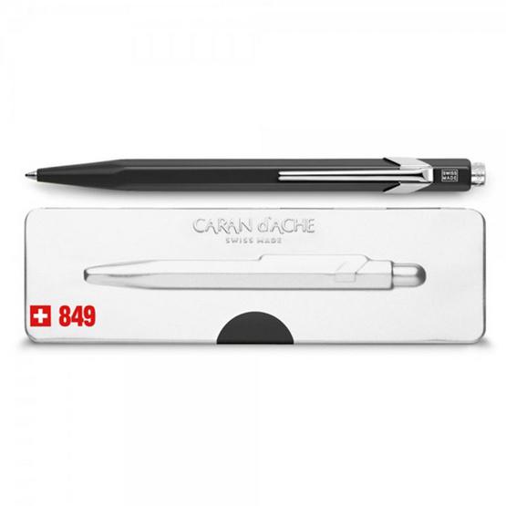 Caran d'Ache ปากกาด้ามดำ พร้อมกล่องโลหะ 849.509