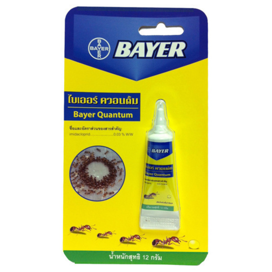Bayer ไบเออร์ ผลิตภัณฑ์ กำจัดมด ควอนตั้ม เหยื่อกำจัดมด ขนาด 12 g