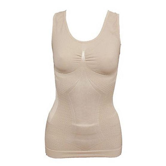 Swans เสื้อกล้ามกระชับสัดส่วน (ผ้าไหม) Strong Silk Top Free Size สีเนื้อ