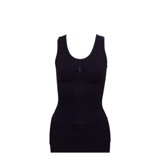 Swans เสื้อกล้ามกระชับสัดส่วน (ผ้าไหม) Strong Silk Top Free Size สีดำ