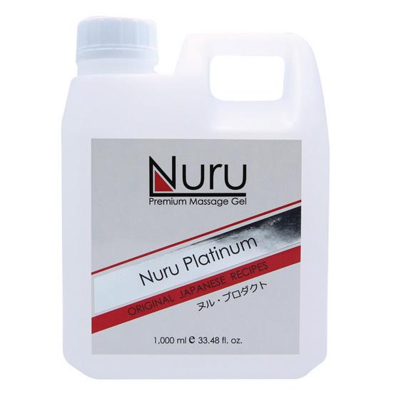 Nuru platinum (นูรุ แพทตินัม) เจลนวดตัวสำหรับบุรุษและสตรีให้ความลื่น นุ่มนวลในการนวด ขนาด 1000 มล.