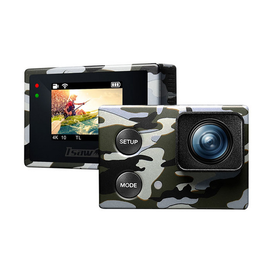 ISAW EDGE Actioncam CAMO EDITION + Micro SD 8 GB