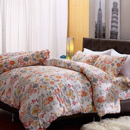 Darling Deluxe ชุดผ้าปูที่นอน 6ฟุต5ชิ้น+ผ้าห่มนวม ลายโจแอล