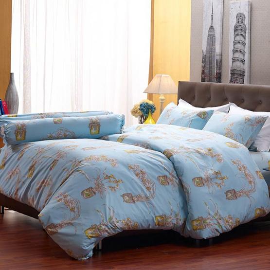 Darling Deluxe ชุดผ้าปูที่นอน 6ฟุต5ชิ้น+ผ้าห่มนวม ลายราพันเซล