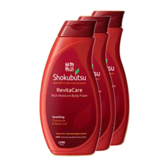Shokubutsu Monogatari Body Foam Soothing 200ml Pack3
