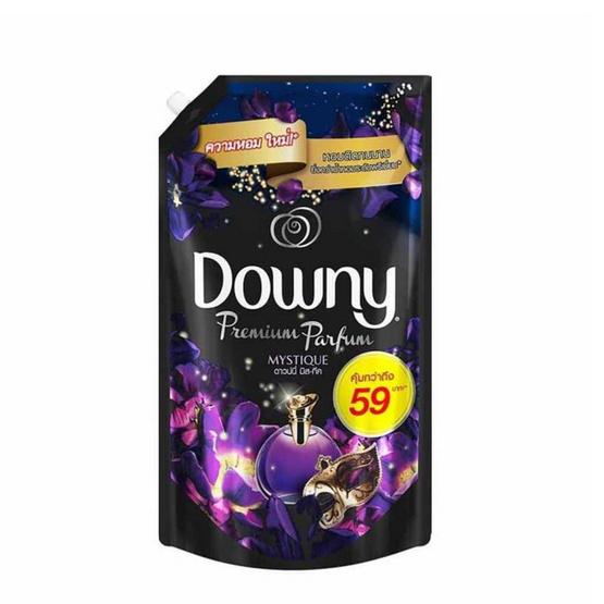 Downy น้ำยาปรับผ้านุ่ม กลิ่นมิสทิค 580 มล. ถุงเติม สีม่วงดำ