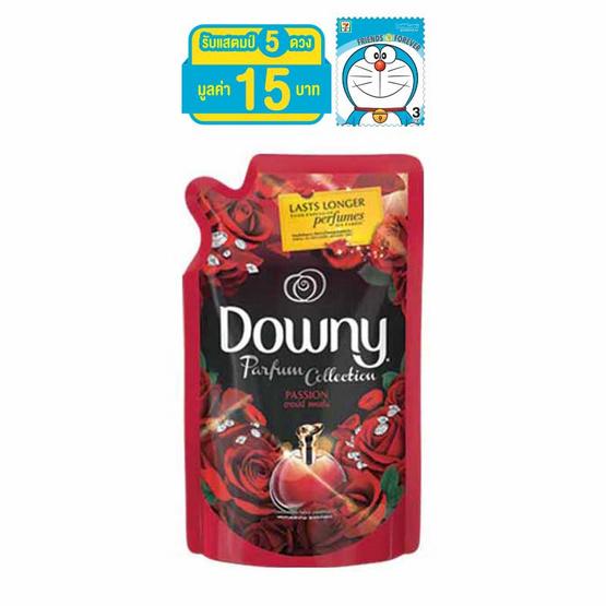 Downy น้ำยาปรับผ้านุ่ม กลิ่นแพชชั่น 580 มล. ถุงเติม สีแดงดำ