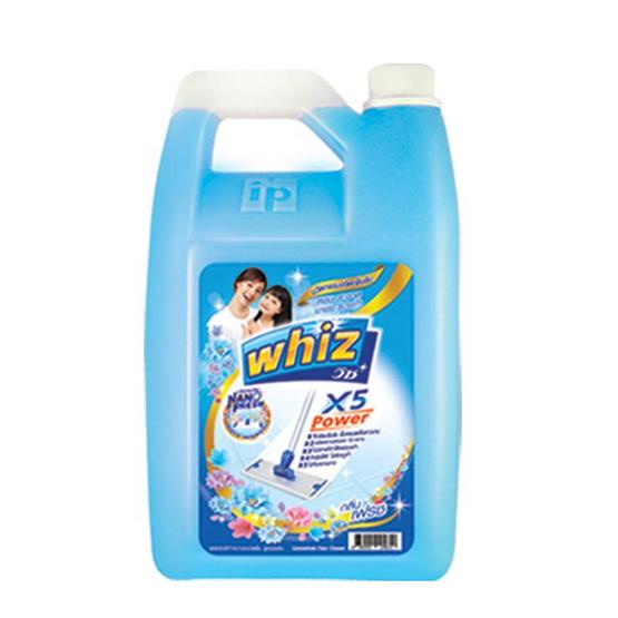 วิซ พาวเวอร์ x5 น้ำยาถูพื้น กลิ่นเฟรช สีฟ้า 2,100 มล.