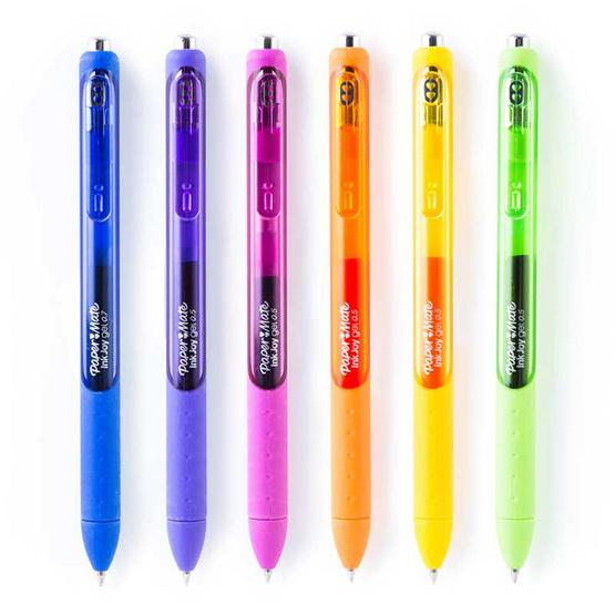 Paper Mate ปากกาอิงค์จอยเจล 0.5 มม. เซ็ตแฟชั่น2 (6ด้าม คละสี)