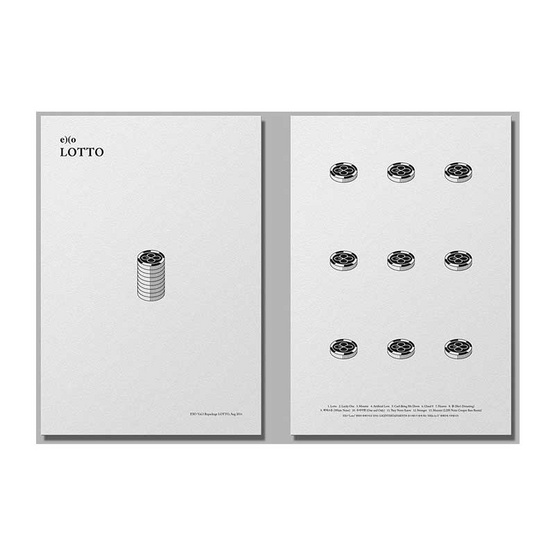 CD EXO  The 3rd Repackage Album LOTTO (Ver.เกาหลี) [Local]