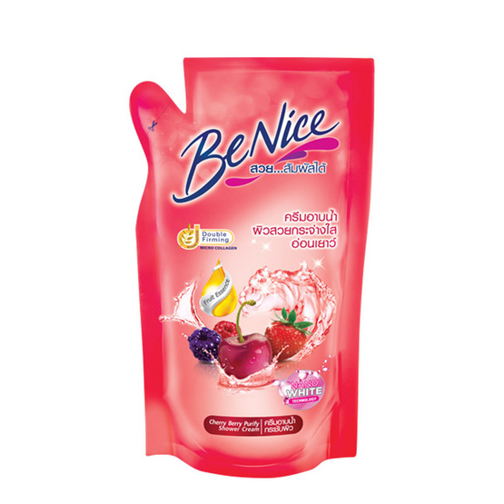 Be Nice ครีมอาบน้ำ 400 มล. สีแดง ถุงเติม