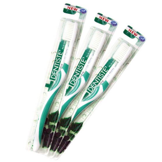 เดนทิสเต้ แปรงสีฟันพลัสไวท์ แพ็ค 3 (คละสี)