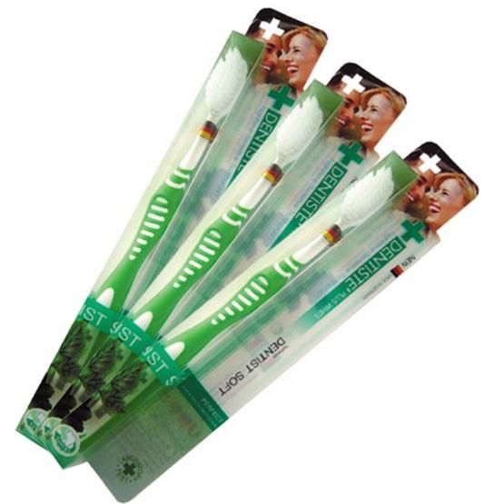 เดนทิสเต้ แปรงสีฟัน รุ่นเยอรมัน เวิลด์ เบส แพ็ค 3 (คละสี)