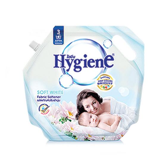 ไฮยีน ผลิตภัณฑ์ปรับผ้านุ่ม กลิ่นซอฟท์ไวท์ 1,800 มล. สีขาว